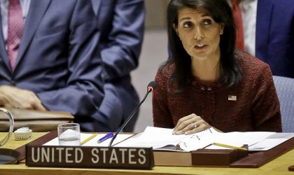 U.S. United Nations Ambassador Nikki Haley