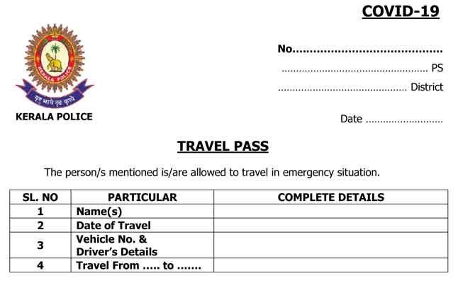 Kerala-Travel-pass-Lock-down